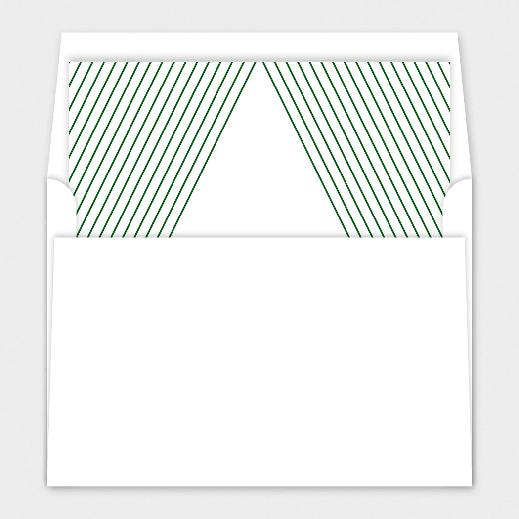 Modern Tree Holiday Cards – Envelope Liners