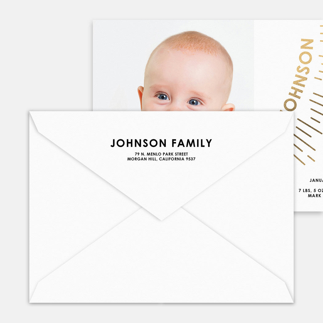 Our Sunshine Birth Announcements – Printed Return Address