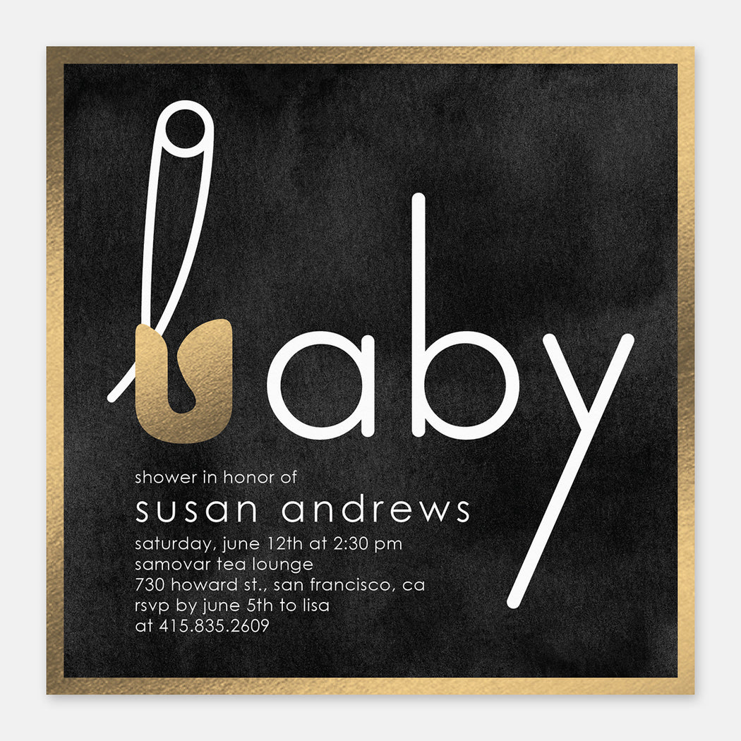 Pin It Baby Shower Invitations – Front View