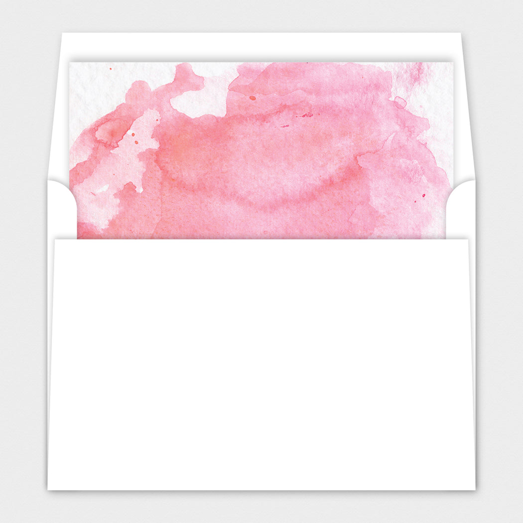 Pink Buggy Baby Shower Invitations – Envelope Liner