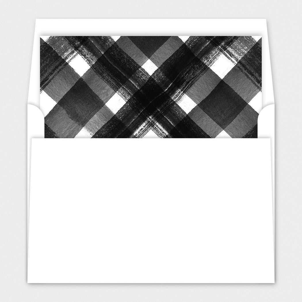 Plaid Accent Holiday Cards – Envelope Liners