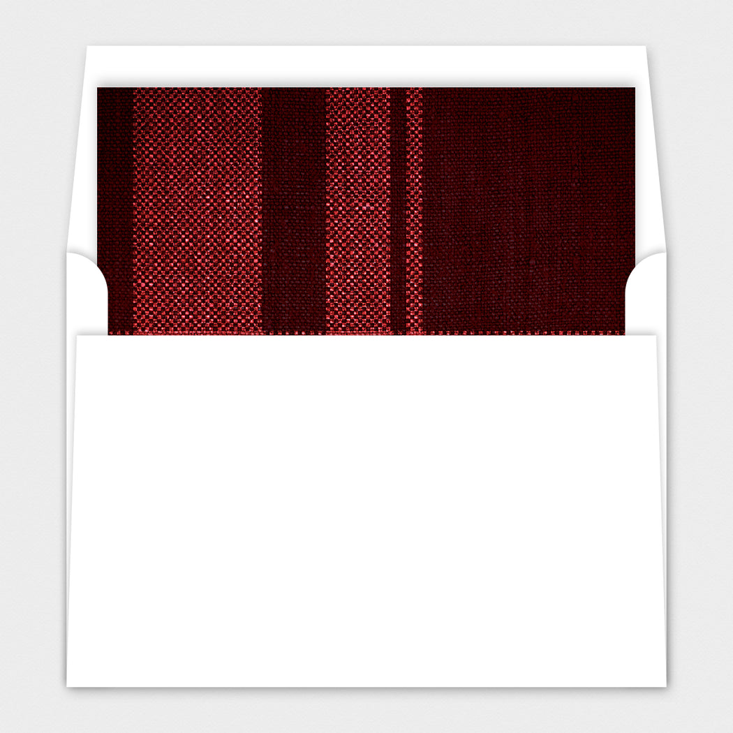 Perfect Plaid Holiday Cards – Envelope Liners