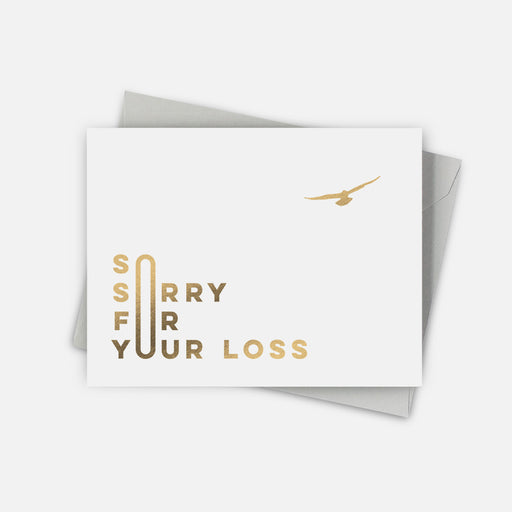Flying Bird Sympathy Card