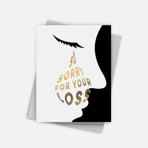 Big Tear Sympathy Card