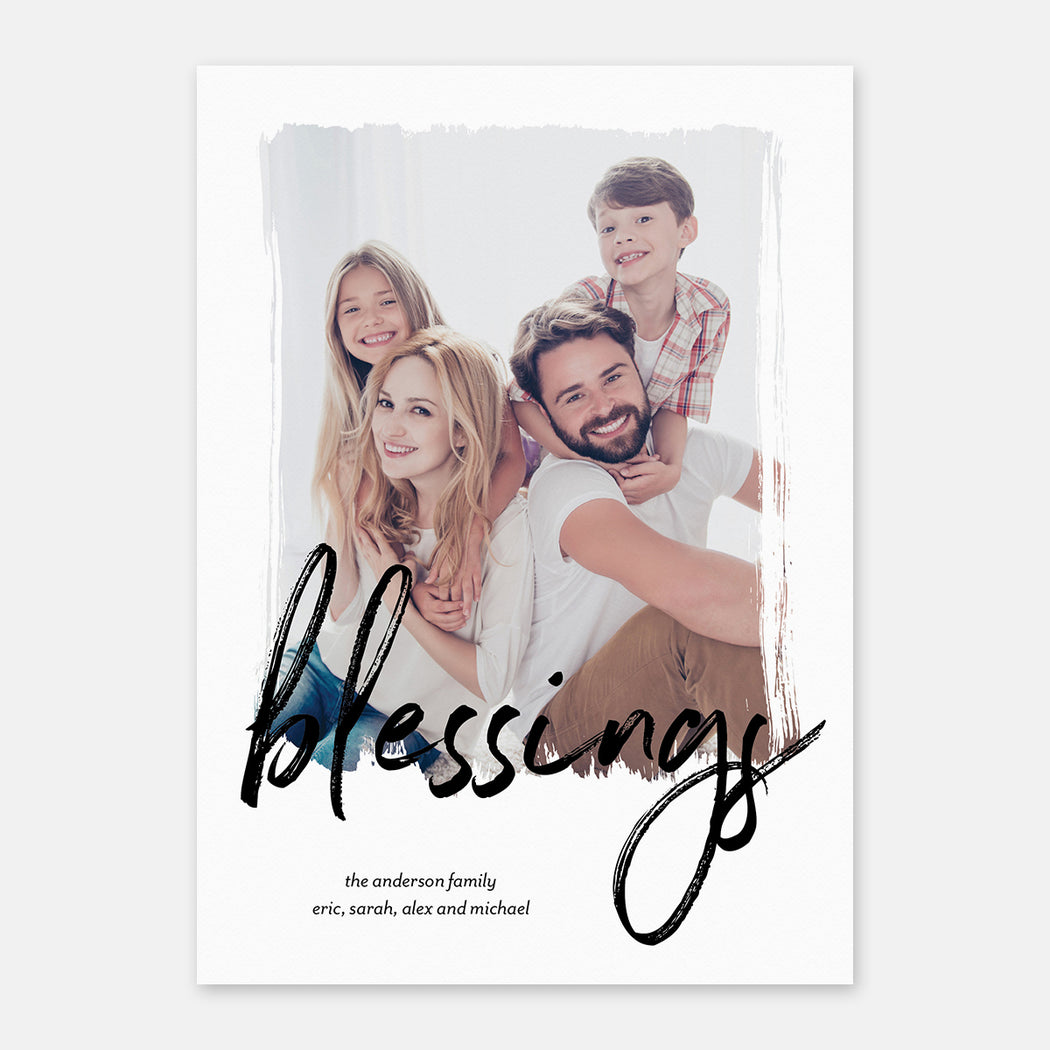 Scripted Blessings Holiday Cards – Front View