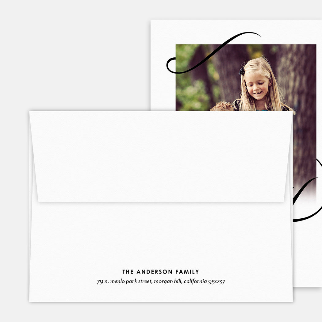 Scripted Merry Holiday Cards – Printed Return Address