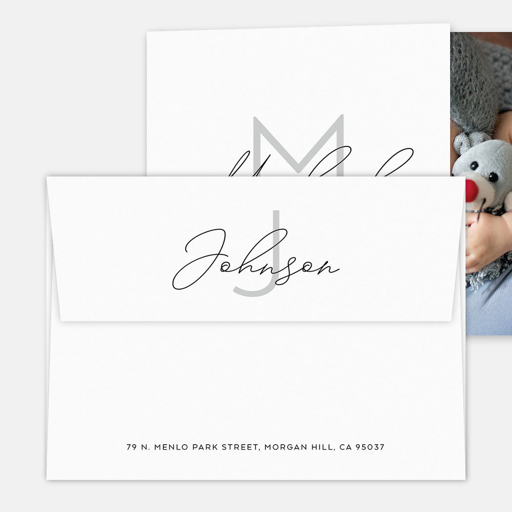 Sneak Peak Birth Announcements – Printed Return Address
