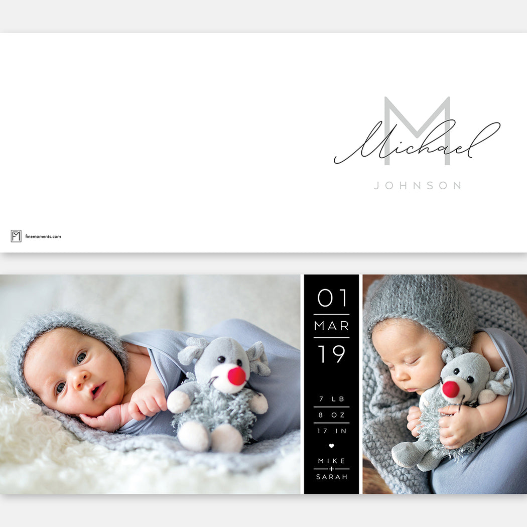 Sneak Peak Birth Announcements – Flat View