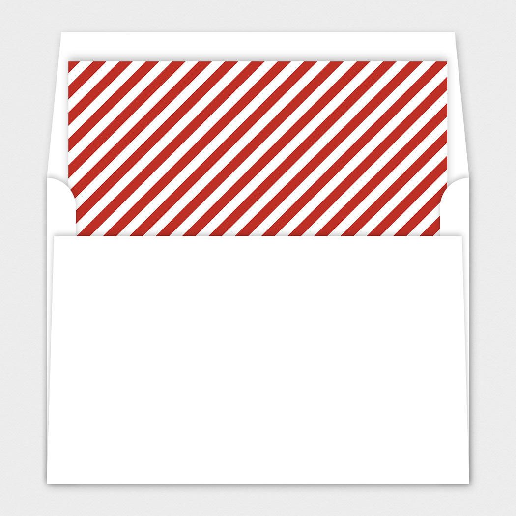 Staggered Greetings Holiday Photo Cards – Envelope Liners