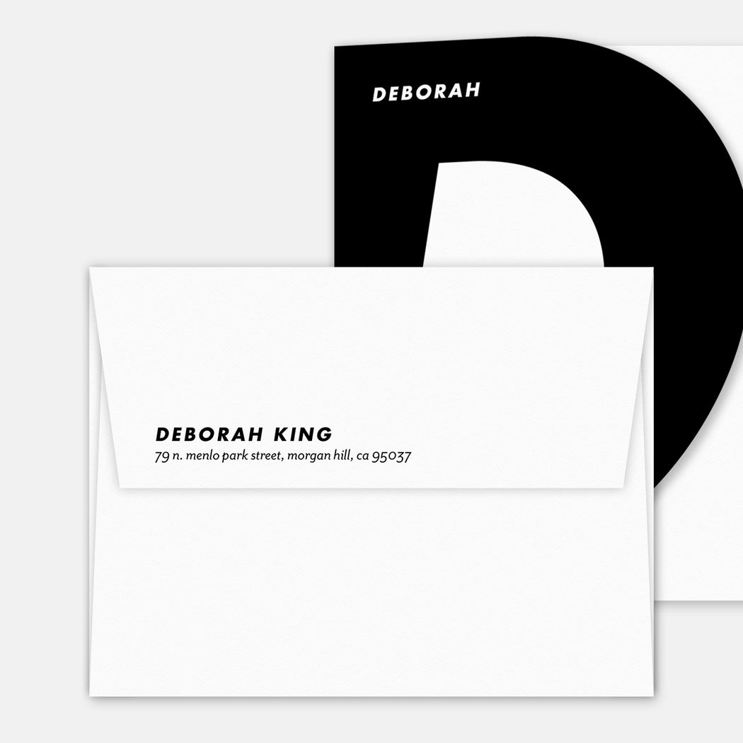 Super D Personalized Stationery Cards – Printed Return Address