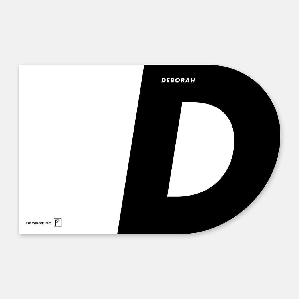 Super D Personalized Stationery Cards – Flat View