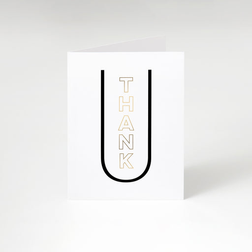 Centered Thank U Card