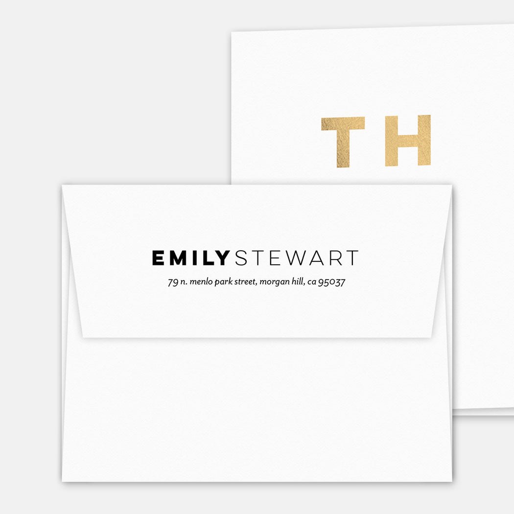 ThankU Cards – Printed Return Address