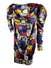 2009 MISS SIXTY Italian Designed Pop Art Stretchy Mini Dress -Small