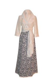 Vintage Sue Peyton's Brocatelle/Brocade  Full Length Wrap Skirt