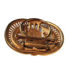 "Mary McFadden Gilded Gold Hardware ""Scarab"" Brooch"