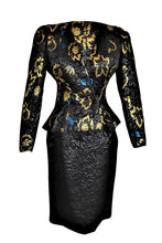 Vintage Adolfo for Neiman Marcus Metallic Brocade Skirt Suit