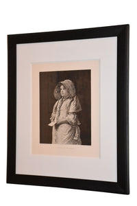 "19th Century Framed Antique Photogravure ""A Letter for the Squire"""