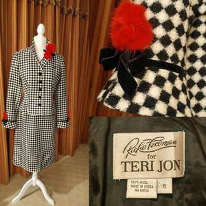 1990's Vintage Rickie Freeman for Teri Jon 100% Wool Skirt Suit Size 6