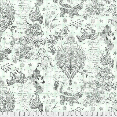 "Lineworks 108"" Backing Fabric - Sketchyer -Paper"