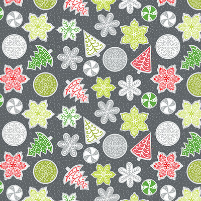 Let it Snow Cookies Dark Gray Multi