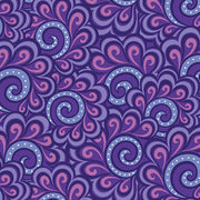 Free Motion Fantasy Swirl Feather Purple