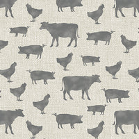 Farm Sweet Farm Animals Tan/Gray