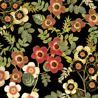 Harvest Gold Floral Black