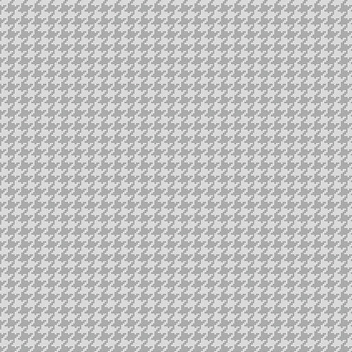 TINY HOUNDSTOOTH DOVE GRAY