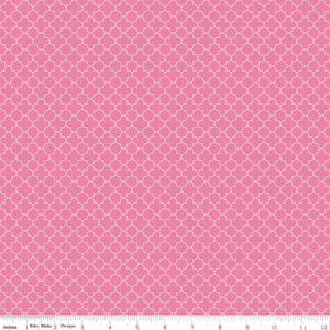 Quatrefoil Mini Hot Pink