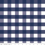 "1"" Gingham Check Navy"