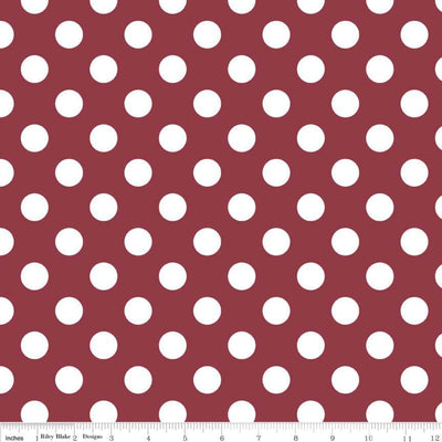 Medium Dots Burgundy