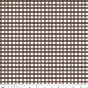 "1/4"" Gingham Brown"