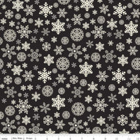 Christmas Delivery Snowflakes Black