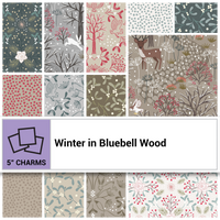 "Winter in Bluebell woods 5"" Squares"