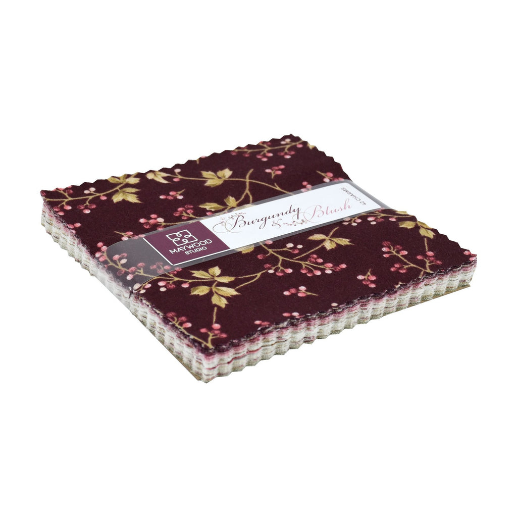 "Burgundy and Blush 5"" Squares"