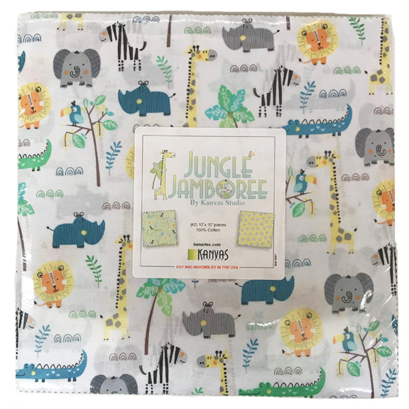 "Jungle Jamboree 10"" Squares"