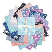 "GLOW IN THE DARK Fairy Nights 5"" charm pack precut Squares"