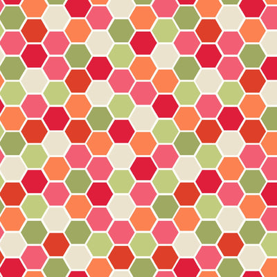 Make Yourself at Home Designer Red Mini Hexagons