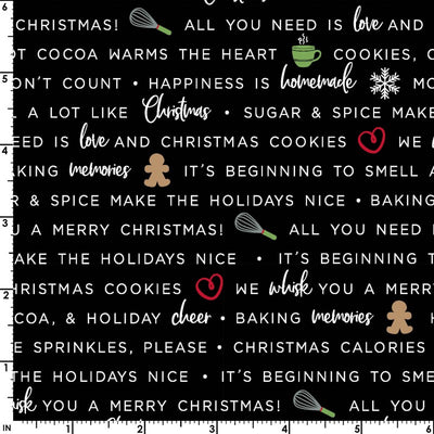We Whisk you a merry Christmas Holiday baking phrases