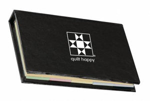 Quilt Happy Micro Sticky Novel Black