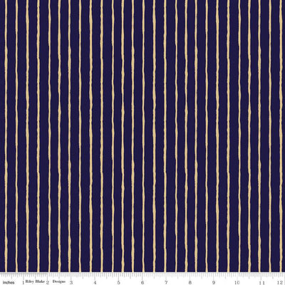 Dream World Stripes Navy Sparkle