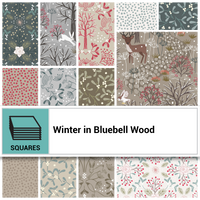 "Winter in Bluebell woods 10"" Squares"