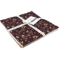 "Burgundy and Blush 10"" Squares"