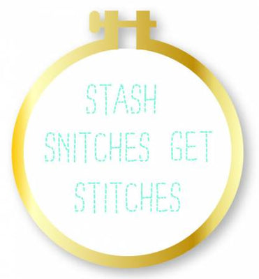 Enamel Pin Gold Hoop Stash Snitches Get Stitches