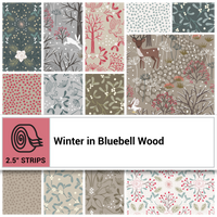 "Winter in Bluebell woods 2.5"" Strips"