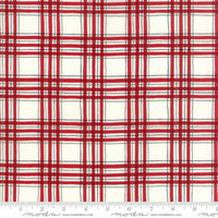 Hearthside Holiday White Red Check