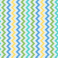 Lil' Sprouts Flannel Too Zig Zag Blue
