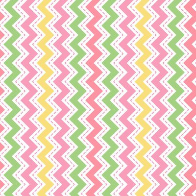 Lil' Sprouts Flannel Too Zig Zag Pink