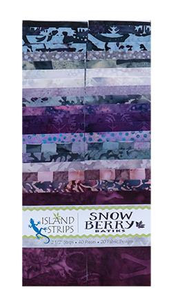 "Snowberry by Island Batik 2.5"" strips"